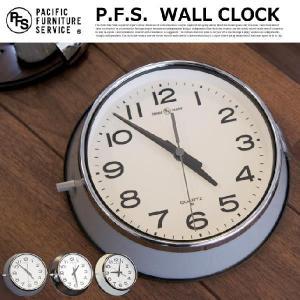 掛け時計 パシフィックファニチャーサービス PACIFIC FURNITURE SERVICE ウォールクロック WALL CLOCK OC143 スチール レトロ 秒針静か 防塵 ギフト カフェ風 bicasa