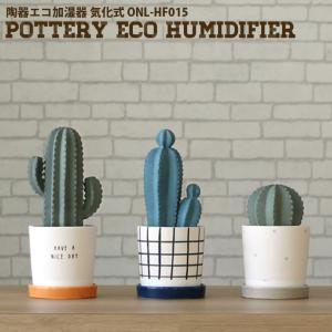 加湿器 卓上 パーソナル加湿器 陶器 エコ加湿器 気化式 サボテン 大 eco humidifier...