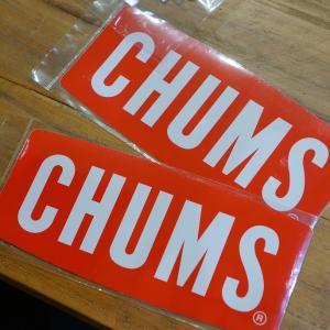 Sticker CHUMS Logo Large ステッカー border=1