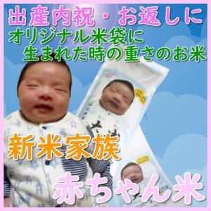 出産内祝い お返し 出生体重米 我が家の新米家族 精白米オリジナル米袋で贈る 雲海が育んだコシヒカリ|bicchu