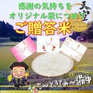 オリジナル袋でご贈答に  雲海が育んだコシヒカリ 玄米 袋のデザインが自由に選べる 2k|bicchu