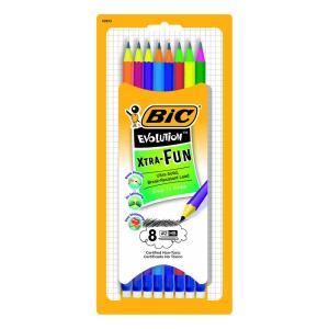 環境にやさしい非木材鉛筆 消しゴムのついたカラフルで楽しいHB鉛筆 エボリューション鉛筆HB消しゴム...