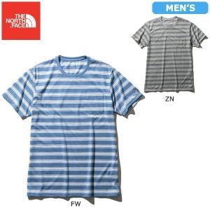 (セール)THE NORTH FACE(ノースフェイス)ランニング メンズ半袖Tシャツ S/S COLOR HEATHERED MESH BORDER TEE NT...の商品画像 ナビ
