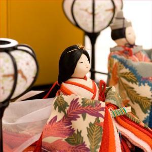 ひな人形 雛人形 コンパクト ちりめん お雛様  古布調古代雛飾り  送料無料|bicolore
