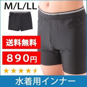 メンズ 水着用 インナー ショーツ 水泳用 男性用 スイムサポーター ブラック M/L/LL|bicolore