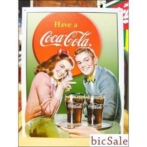 『アメリカンブリキ看板』コカ・コーラ ヤングカップル bicsale