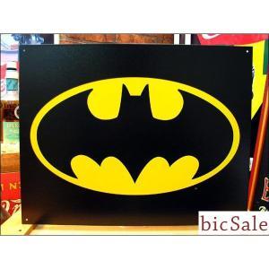 『アメリカンブリキ看板』大人気 BATMAN バットマン ロゴ bicsale