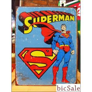『アメリカンブリキ看板』SUPERMAN スーパーマン (レトロ) bicsale