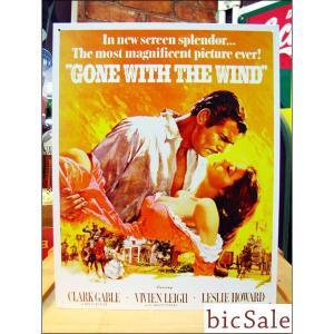 『アメリカンブリキ看板』『風と共に去りぬ』 クラーク・ゲーブル ヴィヴィアン・リー bicsale