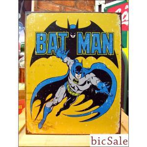 『アメリカンブリキ看板』レトロ雰囲気のバットマン bicsale