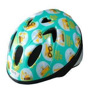 【即日発送】TETE スプラッシュハート ☆はたらく車 ブルーグリーン☆  幼児・子供用ヘルメット軽量モデル!|bicycleshop-gois