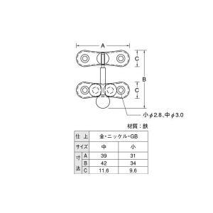 10個入 YAMAICHI(ヤマイチ)  YP-20 三つ玉下り 金(サイズ小)|bidoorpal|02