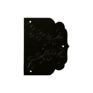 BIDOOR(ビドー)  オリエント10-63-50 丁番飾 黒 ‐ 2枚入 【即納】|bidoorpal