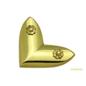 BIDOOR(ビドー)  EB-72 笹金物 L字形 真鍮磨上 100号 【受注生産品につき納期別途連絡】|bidoorpal