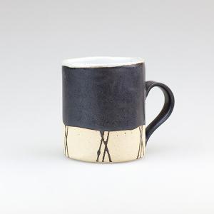 皆空窯のマグカップ(黒マット)B14AM biei-shop
