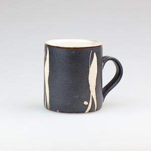 皆空窯のマグカップ(黒マット)B14BM|biei-shop