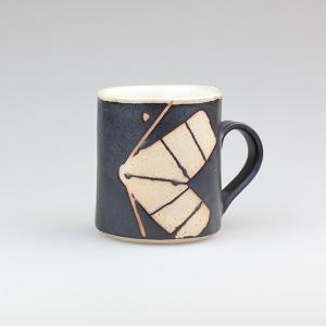 皆空窯のマグカップ(黒マット)B14CM|biei-shop