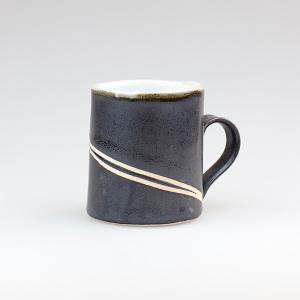 皆空窯のマグカップ(黒マット)B14DM biei-shop