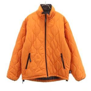 コンバース 中綿 ジップジャケット オレンジ CONVERSE メンズ 古着 210216|big-2nd
