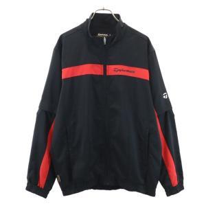 テーラーメイド 2way ゴルフウェア M 黒×赤 TaylorMade ジップジャケット メンズ ...