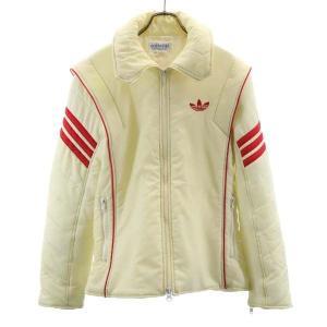 アディダス 70s 80s デサント製 中綿ジャケット L 白系 adidas ヴィンテージ トレフォイル メンズ 古着 210224|big-2nd