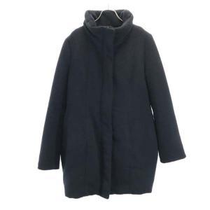 スライ 中綿 ジャケット 2 黒 SLY スタンドカラー ジップ コート レディース 古着 210225|big-2nd