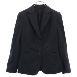 ユナイテッドアローズ テーラードジャケット 36 黒 UNITED ARROWS TOKYO ウール レディース 古着 210419 big-2nd