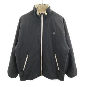 フレッドペリー キルティング ジャケット FRED PERRY 中綿 M グレー メンズ 19112...