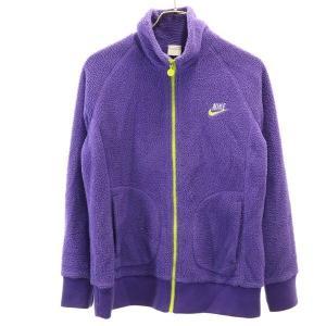 ナイキ ボア フリース ジャケット NIKE ウォームアップ アウトドア L 紫 レディース 191...
