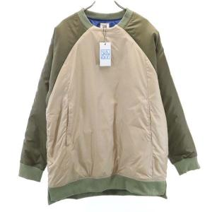新品 バースト222 19AW プルオーバー 中綿ジャケット 3 グリーン vast222 日本製 メンズ 古着 210303|big-2nd