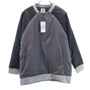 新品 バースト222 19AW プルオーバー 中綿ジャケット 1 ブラック vast222 日本製 メンズ 古着 210303|big-2nd