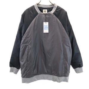 新品 バースト222 19AW プルオーバー 中綿ジャケット 2 ブラック vast222 日本製 メンズ 古着 210303|big-2nd