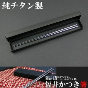 国産 純チタン製 福井かつき箸 プレーンタイプ チタン箸 定形外選択で送料無料 big-market