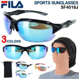 サングラス メンズ FILA スポーツサングラス UVカット 紫外線カット SF4016J  野球 ...