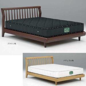 送料無料 セミダブルベッド フレーム単品 2色対応 シンプルデザイン ナチュラル 無垢 寝室 マット...
