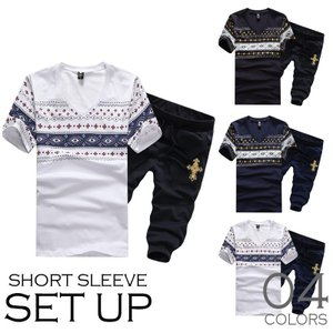 セットアップ メンズ レディース 半袖 ティーシャツ 上下 パンツ 上下セット スウェット ショーツ ダンス 普段着 部|bigbangfellas