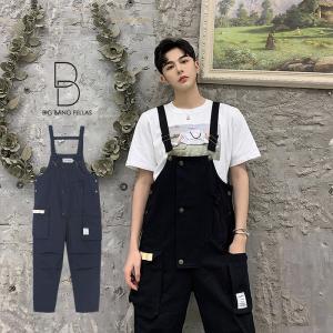 気分を変える メンズ オーバーオール ゆったり オールインワン コンビネゾン ファッション ストリート カジュアル モード系 韓国 ファッション 韓流|bigbangfellas