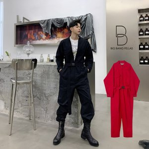 メンズ ジャンプスーツ ゆったり つなぎ オールインワン コンビネゾン ファッション ストリート系 カジュアル モード系 韓国 フ|bigbangfellas