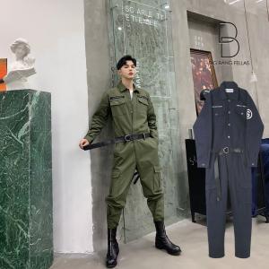 メンズ ジャンプスーツ ゆったり つなぎ オールインワン コンビネゾン ファッション ストリート系 カジュアル モード系 韓国 ファッション|bigbangfellas