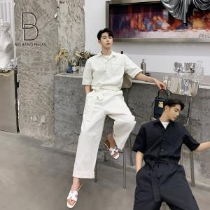 メンズ 半袖 ジャンプスーツ ゆったり つなぎ オールインワン コンビネゾン ファッション ストリート系 カジュアル モード系 韓国ファッション|bigbangfellas