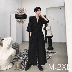 半袖 つなぎ オールインワン オーバーオール ジャンプスーツ サロペット ゆったり メンズ メンズファッション  無地 韓流 韓国 ファッション モード|bigbangfellas