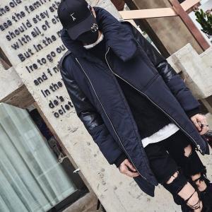 ハイカラー中綿コート ライダース モノトーン モダン ハイネック メンズ メンズファッション ストリート 韓流 韓国ファッション カジュアル 冬 秋 個性|bigbangfellas