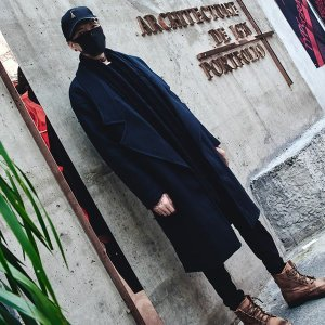 ブラック チェスターコート  モノトーン モダン コート ウール メンズ メンズファッション ストリート 韓流 韓国ファッション カジュアル 冬 秋 個性|bigbangfellas