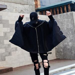 モダン デザインジャケット ブラックコーデ ウインドブレーカー ストリート モードストリート メンズ メンズファッション 韓流 韓国ファッション 冬 秋 個|bigbangfellas