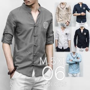 チャイナシャツ 長袖 捲り上げれるデザイン 半袖 メンズ メンズファッション ストリート系 カジュアル 春 夏 個性 中華|bigbangfellas