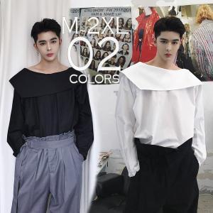 デザインカットソー ロングスリーブ 長袖 メンズ メンズファッション  無地 韓流 韓国ファッション ストリート系  カジュアル 春 秋 個性 衣装|bigbangfellas