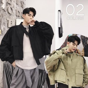 ショートジャケット ミリタリー メンズ メンズファッション  韓流 韓国ファッション ストリート系  カジュアル 春 秋 個性 衣装 モード モードストリー|bigbangfellas