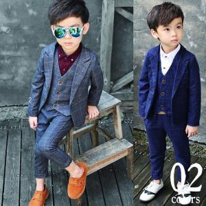 スーツ 子供 男の子 スーツ 3点セット パンツ ベスト ジ...