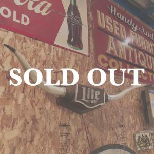 miller Lite beer ヴィンテージライトアップサイン テキサスロングホーン bigbear-usa