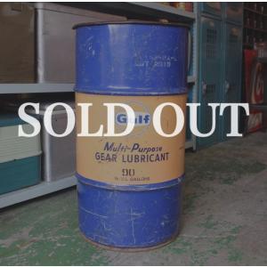 1960年代、Gulfのヴィンテージ オイル缶 / ドラム缶 です。  ゴミ箱や傘立て、天板を置けば...
